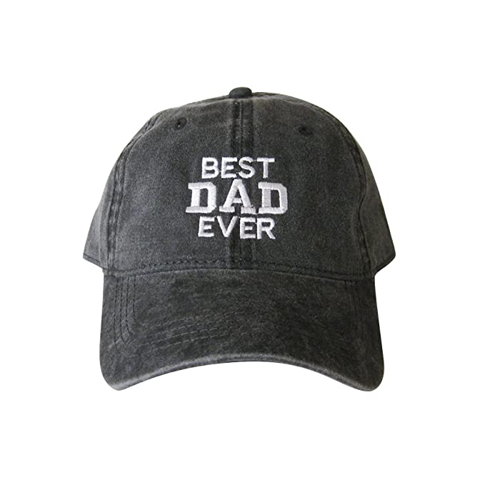 175c860e120 USmania Best Dad Ever Cap Dad Hat Dad Embroidered Cap (Black) at ...