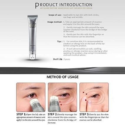 Amazon.com: Bigorge Anti Wrinkle Peptide Serum Eyes Massager Dark Circles Remover Eye Cream And Skin Care Anti-Swelling Fine Lines: Beauty