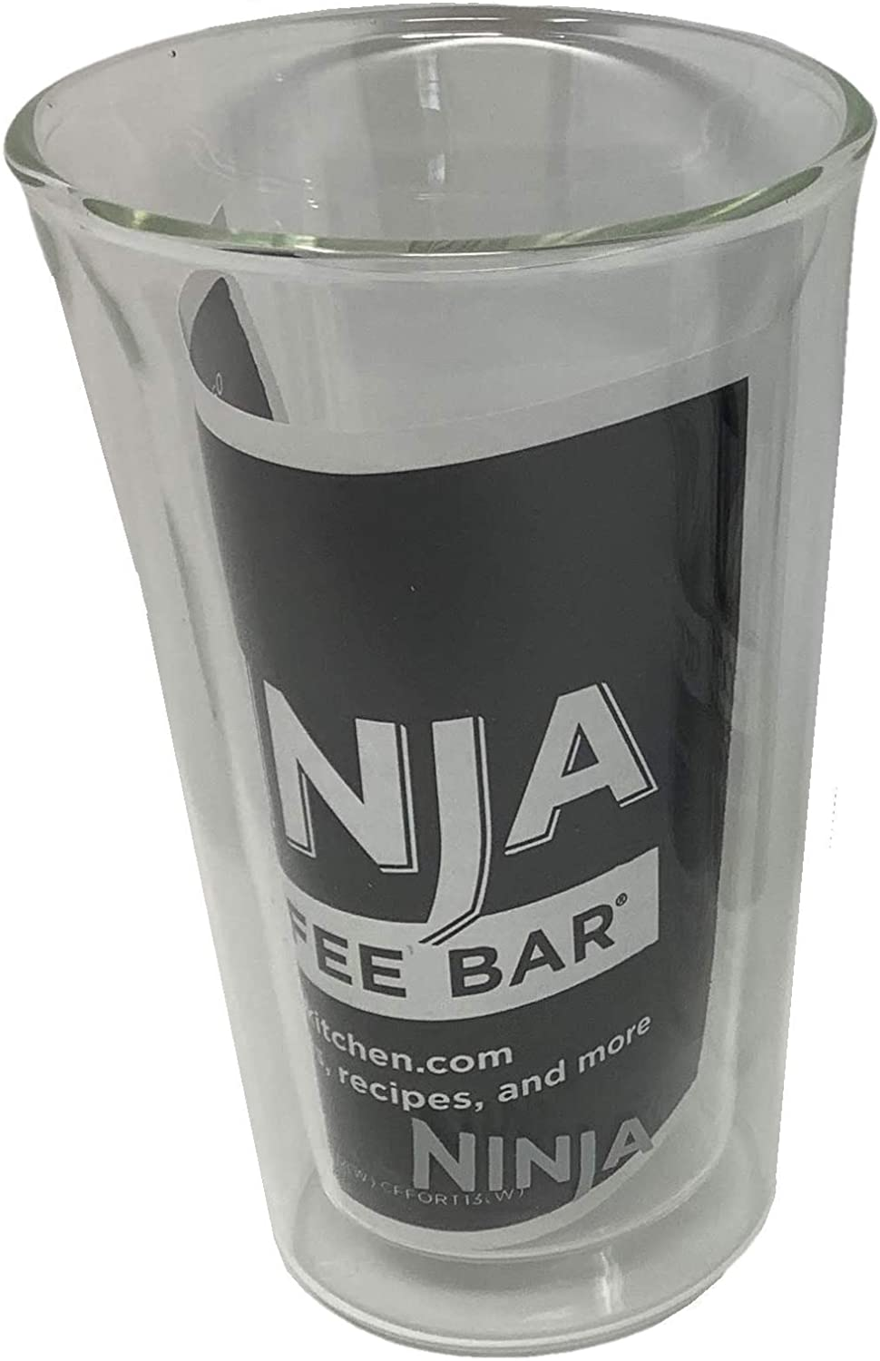 Ninja 12oz Double-Wall Thermo Insulated Tumbler Clear Glass Coffee Tea Cup For Cafe Bar Forte Brew