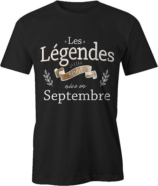 Rois sont nés en septembre or Imprimé Hommes T Shirt Drôle Cool Idée Cadeau Pour Papa