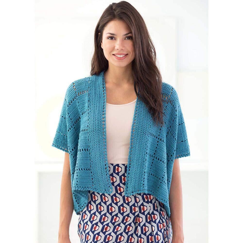 Lion Brand Zen Cardigan Crochet Yarn Kit