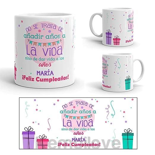 Kembilove Taza de Café Cumpleaños – Taza de Desayuno con Frase Personalizada cumpleaños – Taza de Café y Té para Amigos – Taza de Cerámica Impresa – ...
