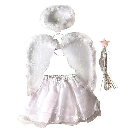 Amazon.com: Tinksky Angel Costumes Headband Wing Wand Tutu ...