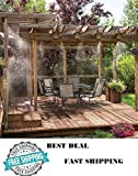GSMV Outdoor Misting System Patio Mist Cooling Mister Kit Air Cooler Pool Deck 20ft