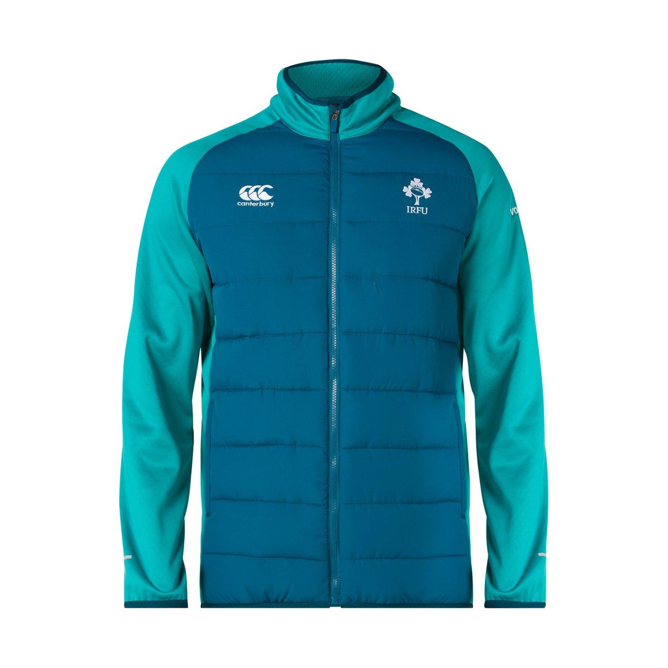 Canterbury - Chaqueta de Rugby híbrida para Hombre, diseño de Irlanda Oficial 18/19, Hombre, E583960L15, Moroccan Blue, X-Large
