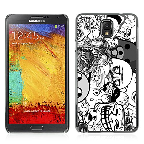Price comparison product image CASETOPIA / Funny 9GAG Meme Faces / Samsung Note 3 N9000 N9002 N9005 / Black Hard Back Case Cover Shell Armor Protection