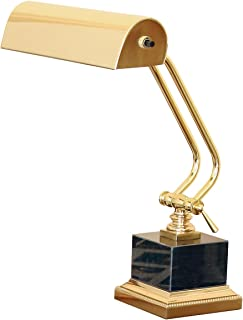 "product image for House of Troy P10-101-B Portable Desk/Piano Lamp with Black Marble, 12"", Polished Brass"