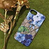 iPhone6/7/8 Plus Bankertedb (Fast US Deliver Guarantee Fulfilled by Amazon) GU Fashion Graphic Card Slot Style PU Leather Case Cover for Apple iPhone 6 Plus iPhone 7 Plus iPhone 8 Plus (Blue Flower)