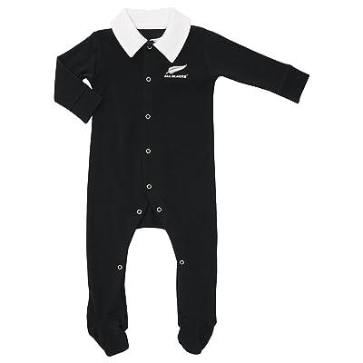 All Blacks Nlle Zélande Bébés - Combinaison Pyjama - Noir/Blanc