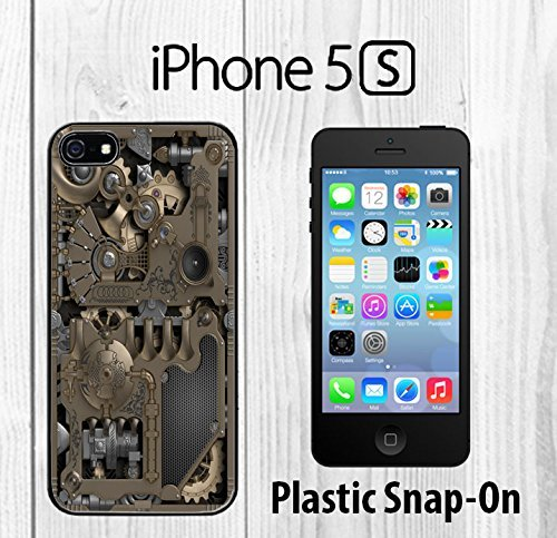 Steampunk Mechanical Gears Custom made Case/Cover/skin FOR iPhone 5/5s -Black- Plastic Snap On Case ( Ship From - Cover Steampunk