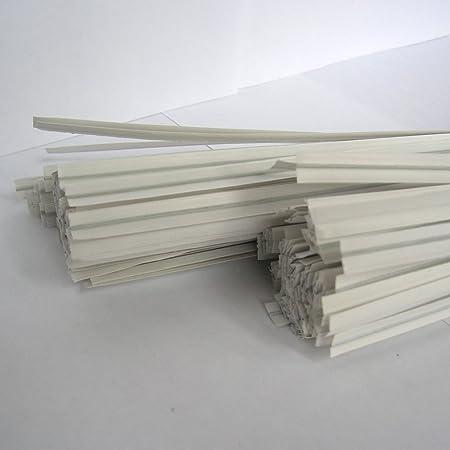 "100pcs 4/"" Paper White Twist Ties"