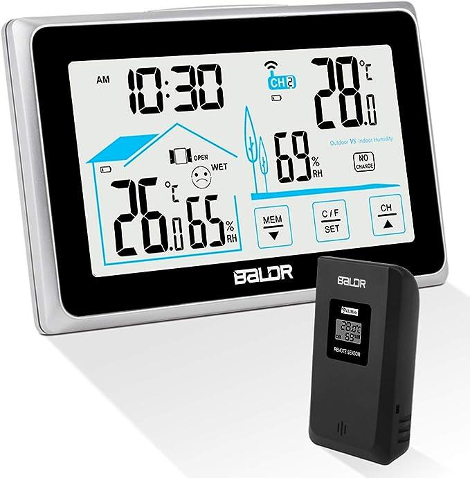 31 opinioni per Qomolo Stazione Meteorologica Wireless Termometro Igrometro Digitale con Schermo