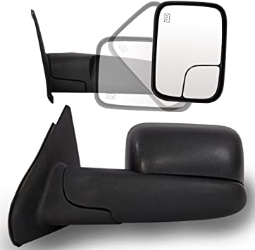 For 98-01 Dodge 1500 98-02 2500 3500 Extend Flip Up Power+Heated Towing Mirrors