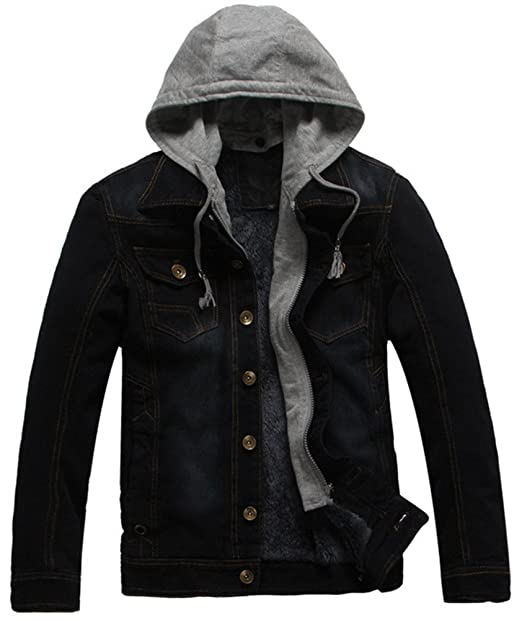 for whole family factory outlets fashion style LifeHe Men's Winter Fleece Lined Denim Jacket Coat with ...