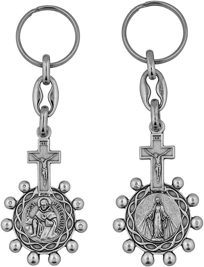 Jesus Saints and Virgin Mary Accessories VILLAGE GIFT IMPORTERS Premium Assorted Holy Figure Keychains Holy Family Keychain 2