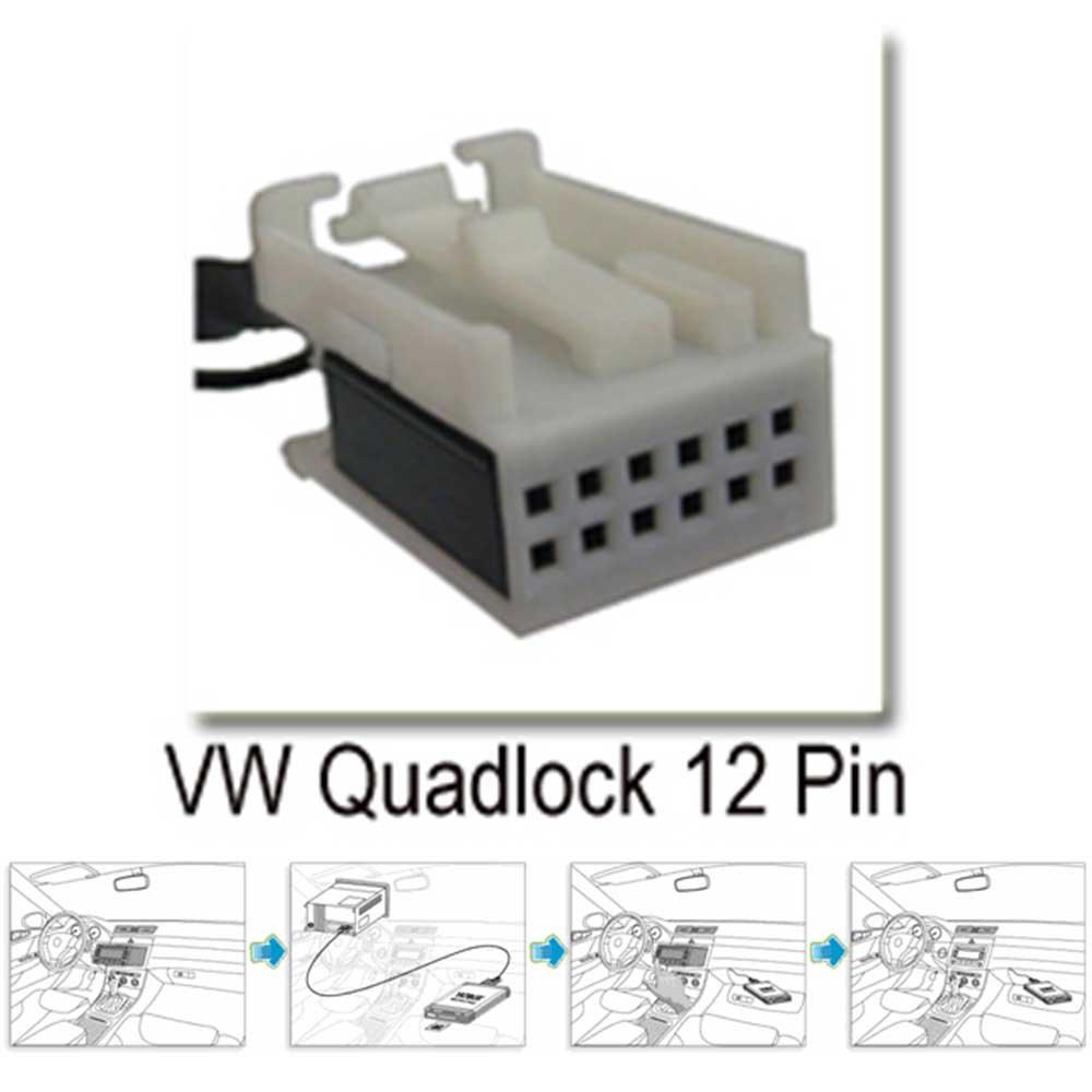 RCD 210 USB SD MP3 AUX CD Wechsler Adapter Interface 12-Pin Radio RCD 100 RCD 200 RCD 215