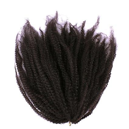 Furice - Extensión de pelo rizado afro, 45,72 cm, pelo sintético,