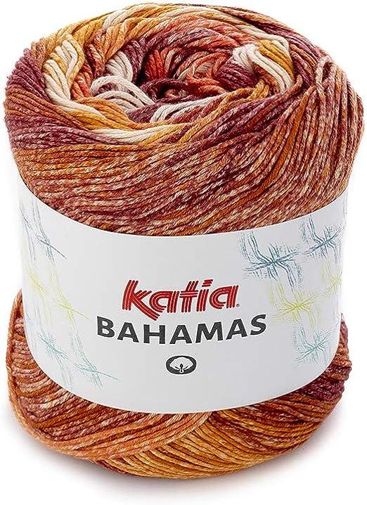Katia Primavera/Verano 2019!!! 100 g Bahamas – Color 63 Ocker/Rojo/Burdeos Violeta algodón Hilo en Colores Vivos y alegres,: Amazon.es: Juguetes y juegos
