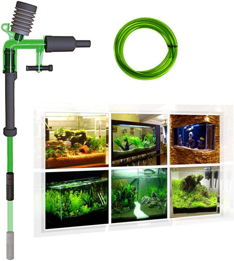 Fish Tank Water Changer, Manual Air-pressing Aquarium Fish Tank Gravel Cleaner Siphon Gravel Suction Pipe Filter Water Changer Sand Washer Cleaning Tool,S-300