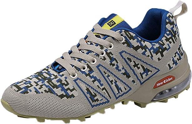 Zapatillas de Deporte Calzado Deportivo Hombre Zapatos para Correr Sneakers Running Sports Ocio Deportes Fitness Cojín de Air Negro Zapatillas Antideslizantes Respirable Zapatos Hombre Jodier: Amazon.es: Zapatos y complementos