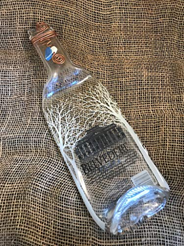 Ergonomic Serving Plate or Dish from Repurposed Glass Bottle Absolut