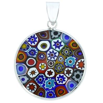 f523d17bf5a6 GlassOfVenice Murano Glass Millefiori Pendant  quot Multicolor quot  ...
