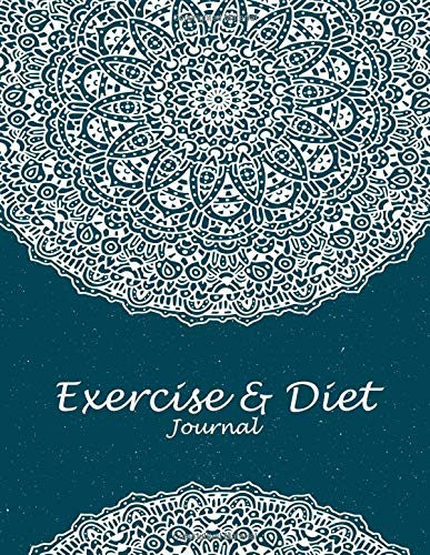 Exercise & Diet Journal: Beauty Blue Book, 2019 Weekly Meal and Workout Planner and Grocery List 8.5 X 11 Weekly Meal Plans for Weight Loss & Diet Plan