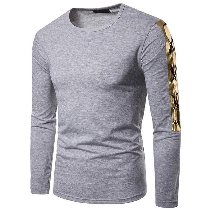 Camisetas Hombre Manga Larga Casual,Camisetas Hombre Manga Larga Otoño ❤️AIMEE7 Camiseta Manga Larga