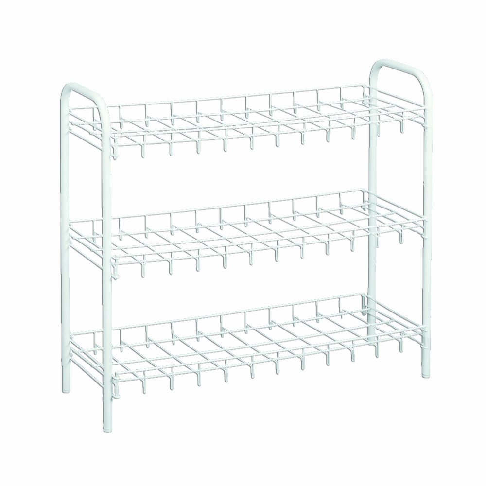 Amazon.com: Metaltex USA Inc. Shoe Rack, White, 12-Pair: Home & Kitchen
