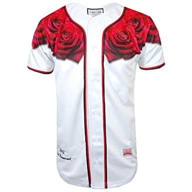 64959daac46 Sik Silk Red Rose Baseball Jersey (Small)  Amazon.co.uk  Clothing