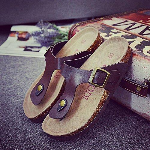 Colore estivi ZHANGRONG Sandali Moda grandi E impermeabili dimensioni ciabatte Pantofole Sandali C 37 dimensioni dzTxpn4II