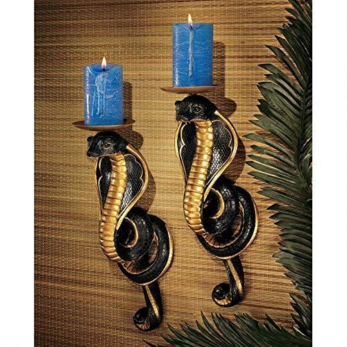 Design Toscano Renenutet Egyptian Cobra Goddess Wall Sconces