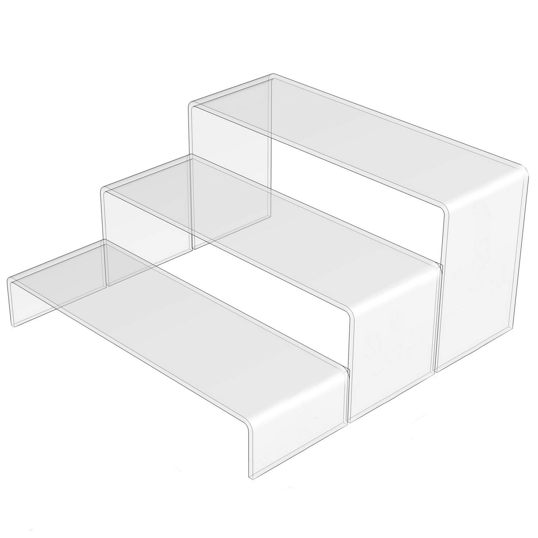 Soporte para exhibición de Armario de plástico acrílico Transparente: Amazon.es: Electrónica