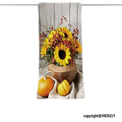 VROSELV Custom Toalla Suave y cómodo Playa Towel-Floral arreglo con Girasoles y Wild Rose