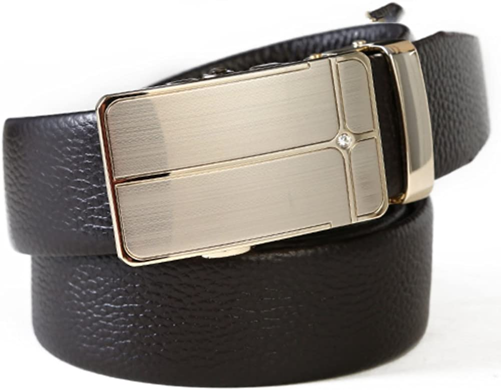 Fashion Men Belt//Mens Leather Automatic Buckle Belt//Young Mens Leather Casual Belt