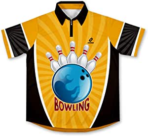 Yellow Bowling Jersey Camisa de Bolos -: Amazon.es: Deportes y aire libre