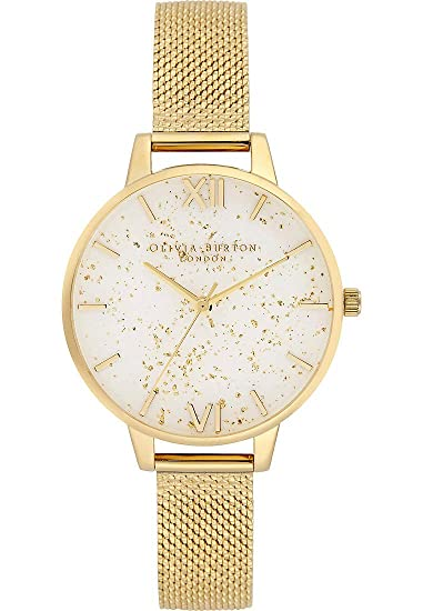 Olivia Burton Reloj Analógico para Mujer de Cuarzo con Correa en Acero Inoxidable OB16GD15: Amazon.es: Relojes