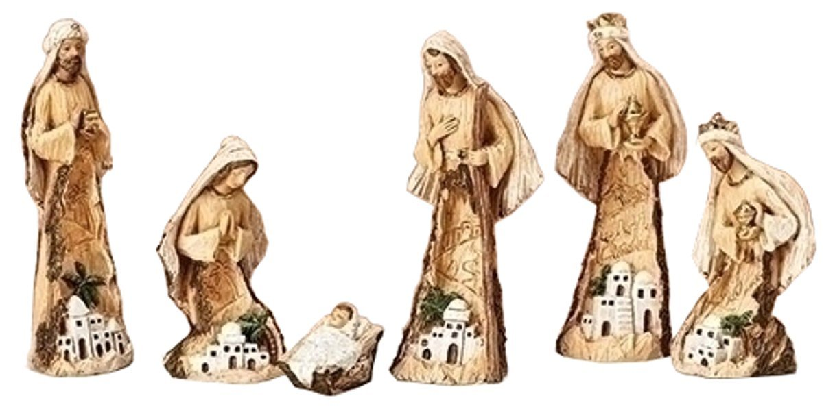 Roman 6Pc Set 7.5'' Holy Family with Curved Scene On Figure