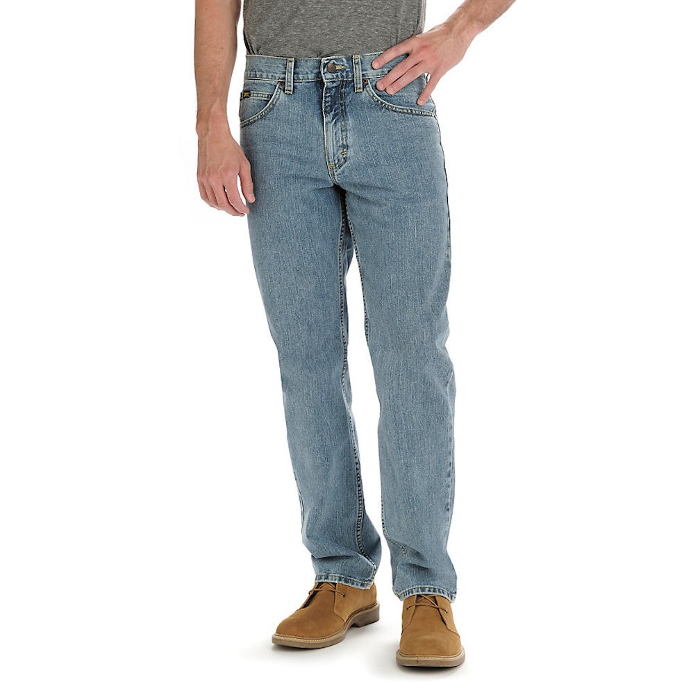 Lee Men's Relaxed Fit Straight Leg Jean - 38 X 36 (38 X 36, Worn Light)
