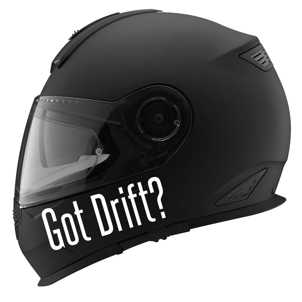 Got Drift 5 White Decal Serpent Auto Car Racing Motorcycle Helmet Decal