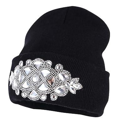 c867a7cd486 Women Knitted Skull Cap Winter Beanie Hat Wool Custom Designer ...