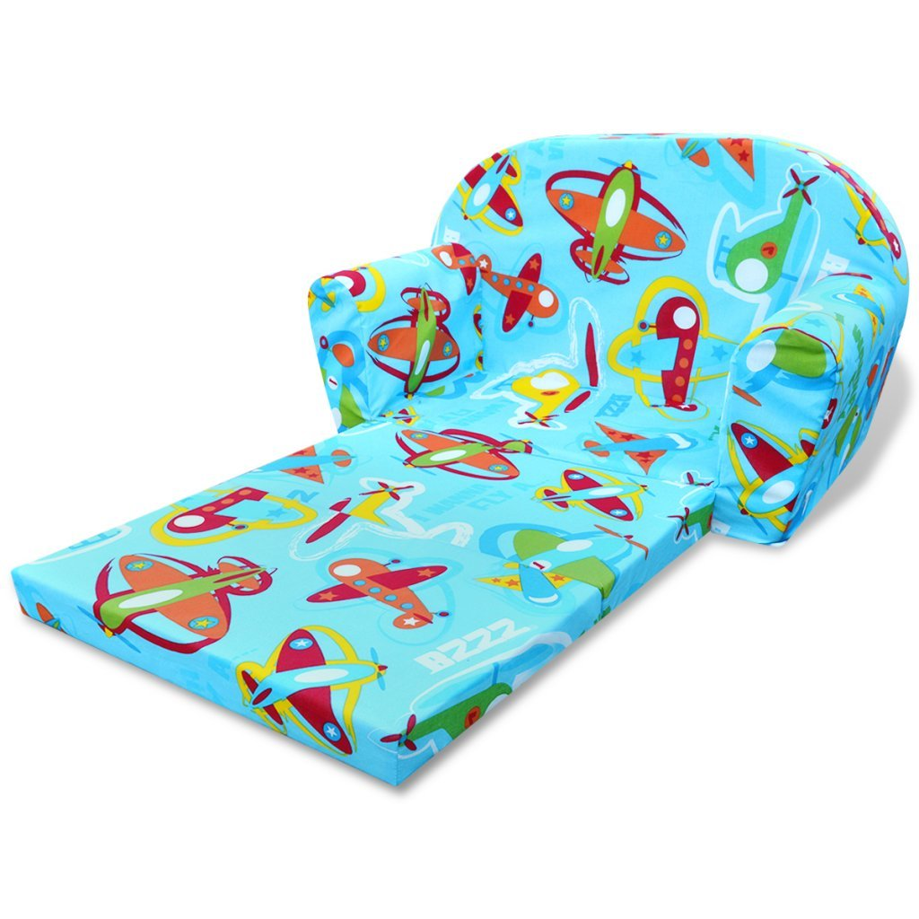 VidaXL VidaXL VidaXL Kindersofa mit Bettfunktion Sessel Schlafsofa Lounge Kinderzimmer Rosa 72d393