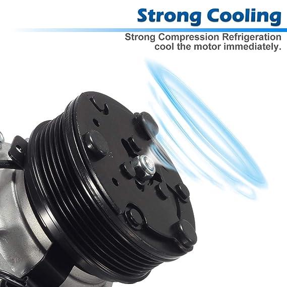 AC Compresor & a/c de embrague para 2007 - 2011 Nissan Versa 1.8L: Amazon.es: Coche y moto