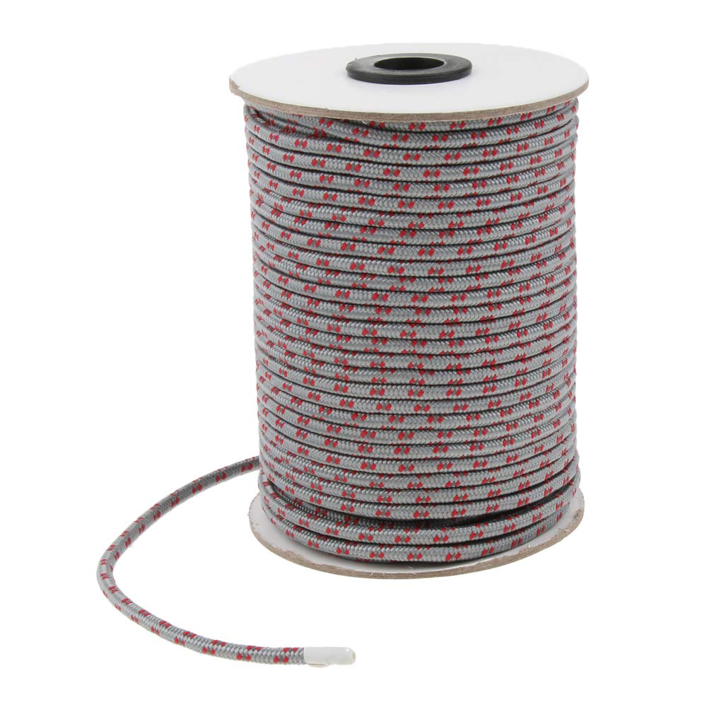 Baoblaze 5mm Leuchtend Nylon Zelt Seil Reflektierend Abspannseile Vorzelt Schnur L/änge Ca 50m