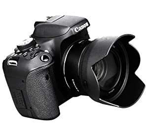 Fotasy Dedicated Bayonet Flower Lens Hood for Canon EF 50mm f/1.8 STM Lens, Replaces Canon ES-68 II (Color: Black, Tamaño: ES-68 II replacemnt)