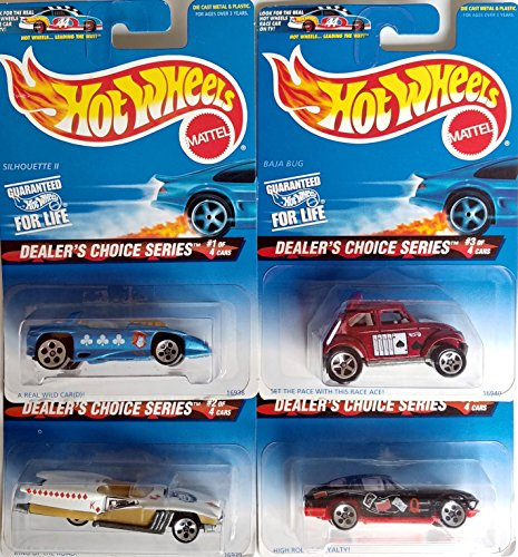 Hot Wheels 1996 Dealer's Choice Collector's Set with A Real Wild Card (Silhouette II), King of the Road (Street Beast), High Rollin' Royalty ('63 Corvette) & Set the Pace with ()
