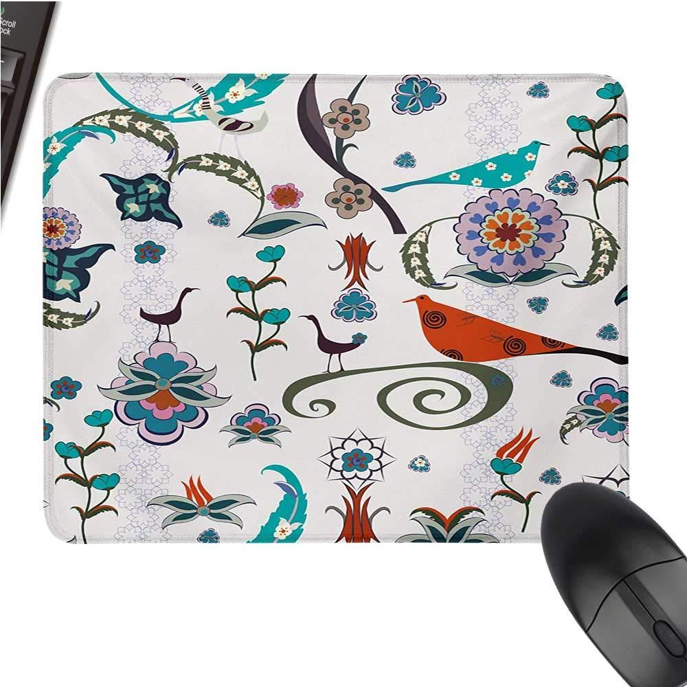 Ethniclarge Mouse padFar 東洋の神聖な曼荼羅模様 花柄 春の鮮やかな東洋の自然の音 快適なマウスパッド 9.8インチx11.8インチ マルチカラー 9.8
