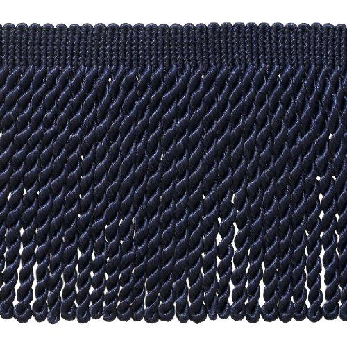 DecoPro 5 Yard Value Pack - 6 Inch Long NAVY BLUE Bullion Fringe Trim, Style BFS6 Color J3 (15 Ft/4.5 (Conso Bullion Fringe)