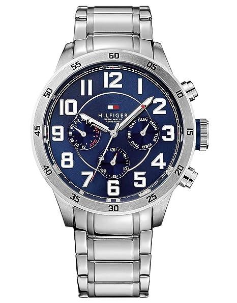 0f8c970fd3a76 Tommy Hilfiger 1791053 Reloj de hombre de acero inoxidable con brazalete de  eslabones