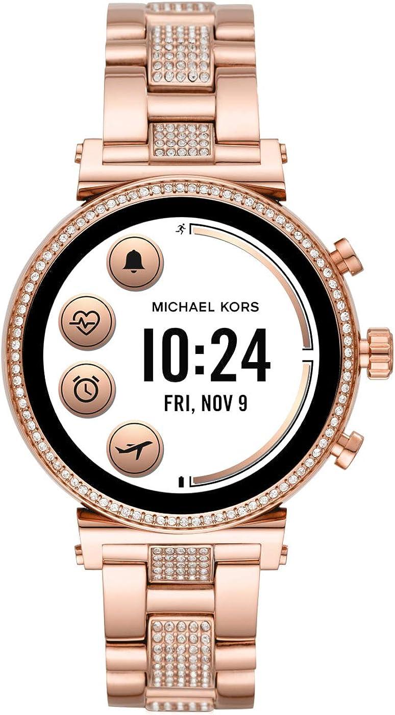 Michael Kors Smartwatch Pantalla táctil para Mujer de Connected con Correa en Acero Inoxidable MKT5066